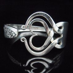 Recycled Silverware Jewelry Silver Fork Bracelet by MarchelloArt, $29.99