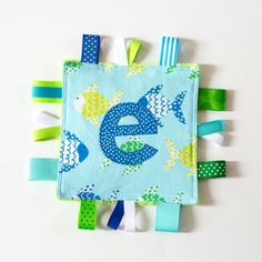 Personalized Baby Sensory Crinkle Crackle Toy  by MyCreativeFrenzy