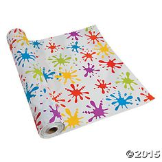 Add a splash of color and fun with this Paint Splatter Tablecloth Roll. x 40 Arrives folded in half on a roll. Paintball Birthday Party, 1st Birthday Party Themes, Art Birthday, Birthday Ideas, Rainbow Birthday, Birthday Celebrations, Kids Art Party, Craft Party, Painting Party Kids