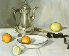 Samuel J. Peploe :: Still Life with Silver Teapot, 1904-06