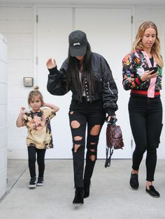 Kourtney Kardashian Photos Photos - Kourtney Kardashian and daughter Penelope Disick are seen out and about on February 2, 2017. - Kourtney Kardashian Steps Out With Her Daughter
