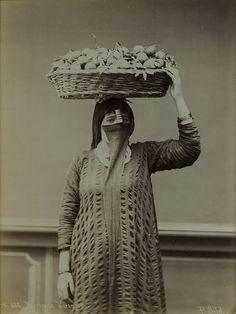 Pascal Sebah, The Veiled Orange Seller, Turkey, 1880