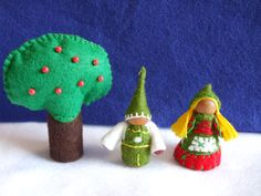 Hansel and Gretel Wood Peg Dolls with a Woodland Tree Fairy Tale Fun!!