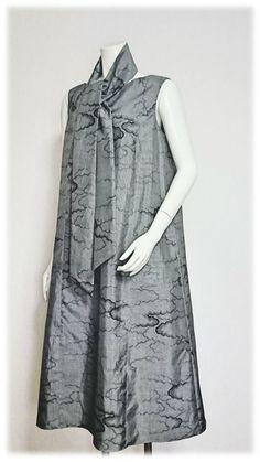 118*大島紬リメイクAラインワンピース Kimono, Japan, My Style, Dresses, Fashion, Vestidos, Moda, Okinawa Japan, Fashion Styles
