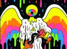 Trippy Drawings, Psychedelic Drawings, Cool Art Drawings, Lsd Art, Trippy Designs, Gcse Art Sketchbook, Trippy Painting, Stoner Art, Small Canvas Art