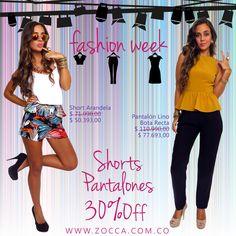 Hoy Shorts y Pantalones 30%Off en ZOCCA Online!!!