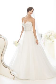 Style #D1629 is a romantic ball gown in soft tulle I @Essense of Australia #weddingdress #weddinggown