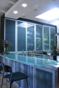 Kitchen glass counter top♡