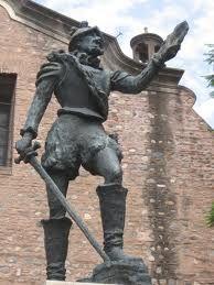 Estatua de Jerónimo Luis de Cabrera en la ciudad de Córdoba, Argentina.