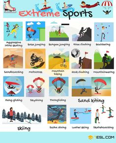 Extreme Sports Vocabulary | List of Extreme Sports