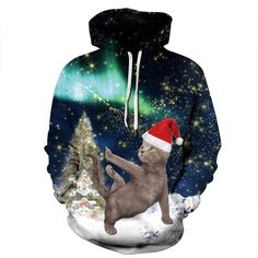 a59f8a7a9632 Yute Unisex Ugly Christmas Pullover Hoodie Sweatshirts Funny Hoody with Big  Pockets
