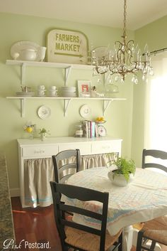 Love the skirt instead of doors and the shelves up top. Paint Carissa's baking station and take off doors.