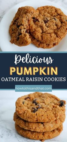 These Pumpkin Oatmeal Raisin Cookies are the perfect mashup! These have all the wonderful texture of a traditional oatmeal cookie, but with added moisture and softness from the addition of pumpkin to the recipe. Check out the blog to see how simple this Fall favorite cookie is to make. Pumpkin Oatmeal Cookies, Oatmeal Raisin Cookies, Delicious Desserts, Dessert Recipes, Family Meals, Family Recipes, Low Carb Recipes, Cookies Et Biscuits, Texture