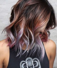 Top Hair Color Trends In Best Hair Color Ideas - Top Best New Hair Color Trends And Ideas In For Girls Women Latest Cool Hair Color Ideas And Trends To Try In Entirely Purple Hair Color This Next Hair Color Thought Demonst Hair Color Purple, Hair Color And Cut, Cool Hair Color, Hair Color Ideas, In Style Hair Colors, Light Hair Colors, Dark Purple, Brown Hair With Purple Highlights, Subtle Purple Hair