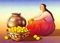 RC Gorman Woman with Lemons Crystal Ceramic Southwestern Art Tile Gift Idea | eBay