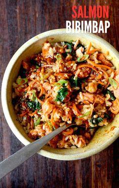 Salmon Brown Rice Bibimbap | Season with Spice - Blog | Bloglovin'