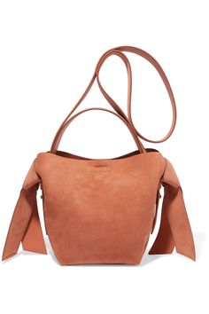 0f84d211c2a3 Musubi Mini Knotted Suede Shoulder Bag - Brown - Acne Studios Shoulder bags