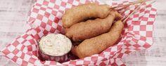 Shrimp Corndogs with Mustard Aioli Recipe by Michael Symon - The Chew