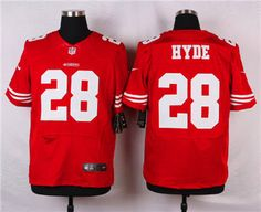 1e5ab5bce Nike San Francisco 49ers  28 Carlos Hyde Red Elite Jersey