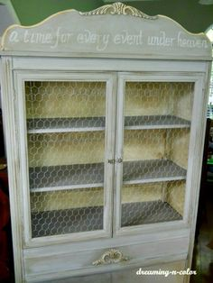 Grey Hutch with Scripture