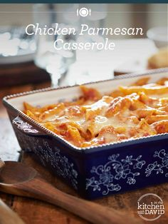 This Chicken Parmesan Casserole is the perfect easy meal for a busy family!