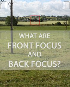 A description of what back focus and front focus mean in terms of cameras and lenses, what causes it, how to detect it, and how to fix it.