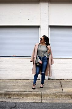 Get this look: http://lb.nu/look/8587229  More looks by Melissa De Leon: http://lb.nu/melinchanel  Items in this look:  Anthropologie Stripe T Shirt, Adriano Goldschmied High Rise Skinny Jeans, Ann Taylor Nude Coat, Vince Camuto Lace Up Black Flats, Kendra Scott Gold Choker, Gucci Mini Black Crossbody   #chic #classic #romantic