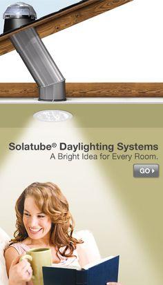 Solar-powered home lighting