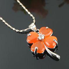 Belle collier en alliage dapos;orange