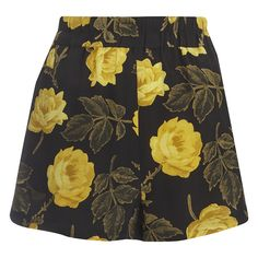 Ganni Women's Lee Silk Shorts - Fusion Rose (1.440 CZK) ❤ liked on Polyvore featuring shorts, multi, silk shorts, elastic waist shorts, floral print shorts, floral printed shorts and ganni
