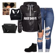"""""""Outfit of the day 💓🤑"""" by ryan2151 ❤ liked on Polyvore featuring NIKE, Timberland and MICHAEL Michael Kors"""