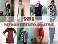 """JOLIE ROBE : plusieurs modèles à coudre """"Patron Gratuit"""" Bettinael.Passion.Couture.Made in france"""