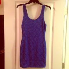 Royal blue lace dress Royal blue tight lace dress. Never worn Wet Seal Dresses