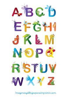 letras con animales para imprimir-Imagenes y dibujos para imprimir