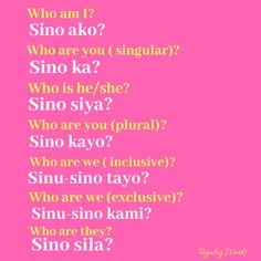 Tagalog Words, Tagalog Quotes, Pronoun Examples, Learning English For Kids, Filipino Culture, Ulzzang Girl, Reading Comprehension, Learn English, Languages