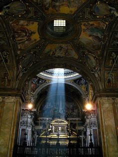 Light inside Santa Maria Maggiore, Rome, Italy - Photograph taken by Bonechi Imports