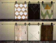 Riekus13 — Sliding Barn Door Arches Sims 4 houses, Sims