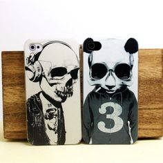 hard  case for iphone 4/4S design proctective cover /rock skull/ panda skull $5.90