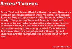 Aries taurus love compatibility