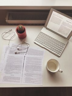"""odysseyi: """"picture from a few days ago when i was studying for an exam - featuring an empty tea cup and my little cactus. i can't believe i am finally done with my exams and i can enjoy a little break. i still feel a little pang of fear that i might..."""