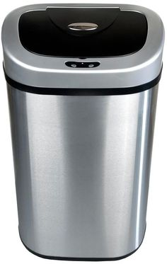 21 Qt Large Open Wastebasket Glamorous Nine Stars Motion Sensor 63Gallon Trash Can Stainless Steel  For Design Ideas