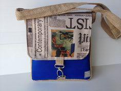 vegan messenger bag small medium size bag outside by LIGONbyRuthi, $69.00