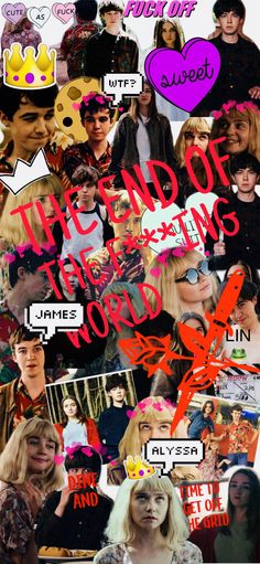 The end of the f***ing world The End, End Of The World, My World, World Wallpaper, Iphone Wallpaper, Phone Backgrounds, Netflix Series, Tv Series, James And Alyssa