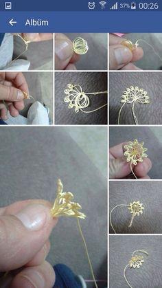 O ✿ ༻ needle lace Source by hayalnuru Needle Tatting, Tatting Lace, Needle Lace, Bobbin Lace, Beaded Flowers, Crochet Flowers, Fabric Flowers, Burlap Flowers, Satin Flowers