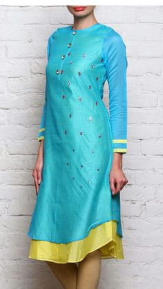 Silk designer kurti.. Get it stitched at http://mytailor.in/