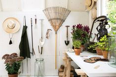 Announcing Our New Guide to Garden Shed Design - Gardenista Shed Makeover, Garden Makeover, Painted Garden Sheds, Shed Conversion Ideas, Michigan, Pegboard Storage, Home And Garden Store, Garden Storage Shed, Storage Sheds