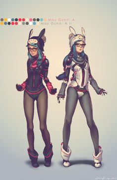 May Gunn: A and May Gunn: A II are a pair of devious twins who ultimately never get along with each other