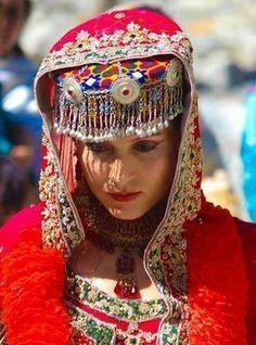 Traditional Wedding dress from Hunza,Gilgit Baltistan, KASHMIR!