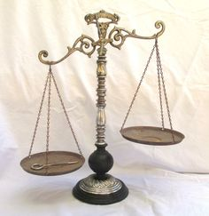 RESERVED FOR NEALE Vintage Scale of Justice by TREASUREandSUCH