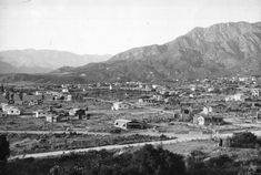 Photograph of a view of the residential area of Tujunga, looking west toward the San Fernando Valley, ca.1928.